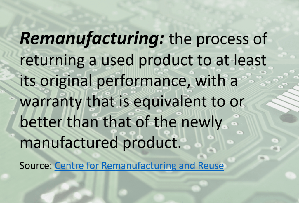 Remanufacturing definition