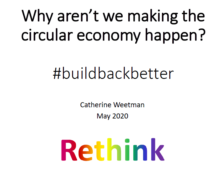 Catherine Weetman's webinar on the circular economy for Economia Circular Brasil
