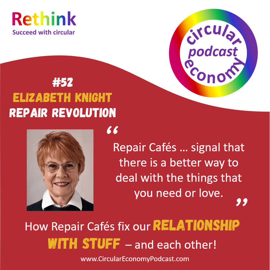 Circular Economy Podcast Episode 52 Elizabeth Knight – Repair Revolution