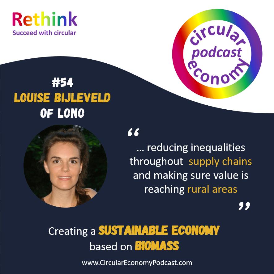 Circular Economy Podcast Episode 54 Louise Bijleveld - LONO